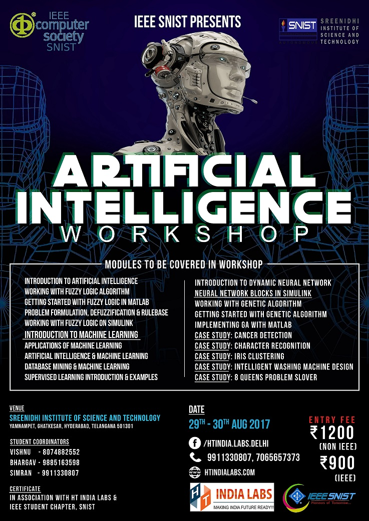 IEEE Technical Workshop: Artificial Intelligence and Machine